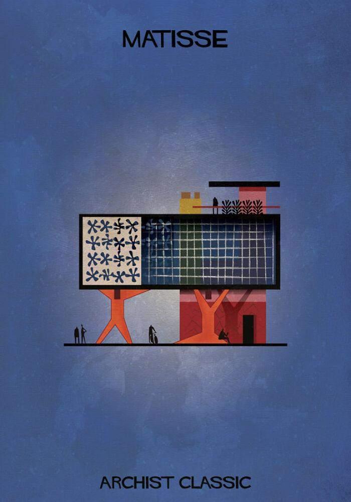 Плоскі люди тримають будівлі геометричних форм