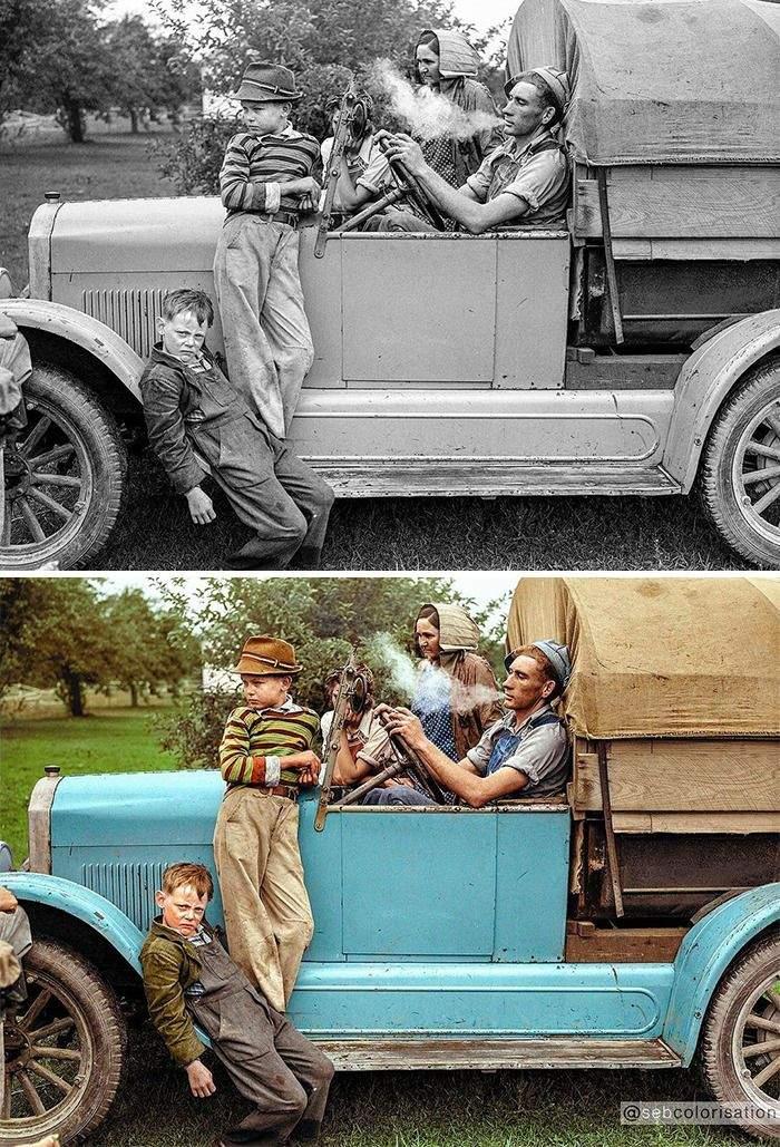 Семья в 1940 году