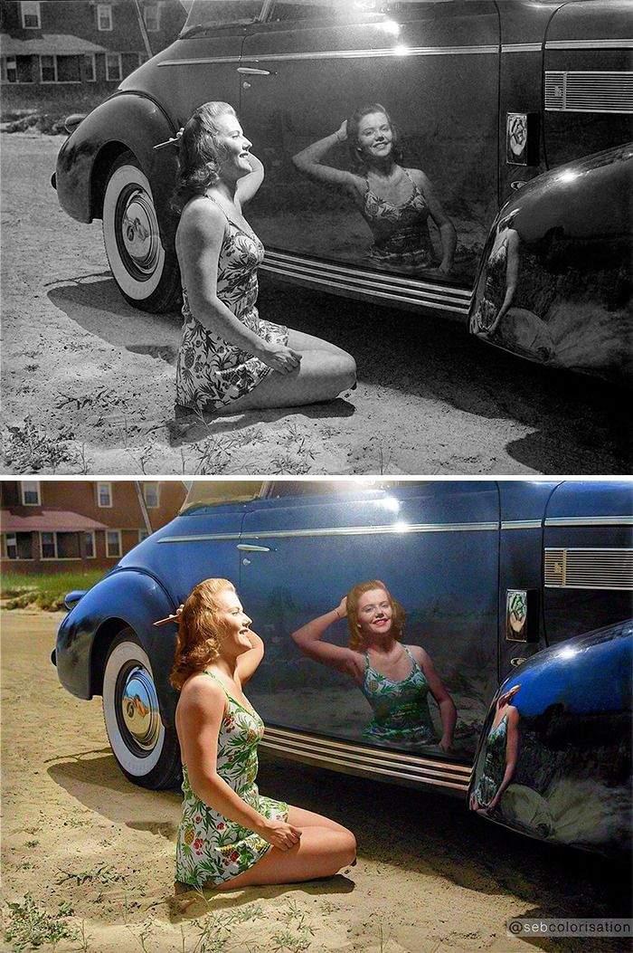Девушка и машина, 1942