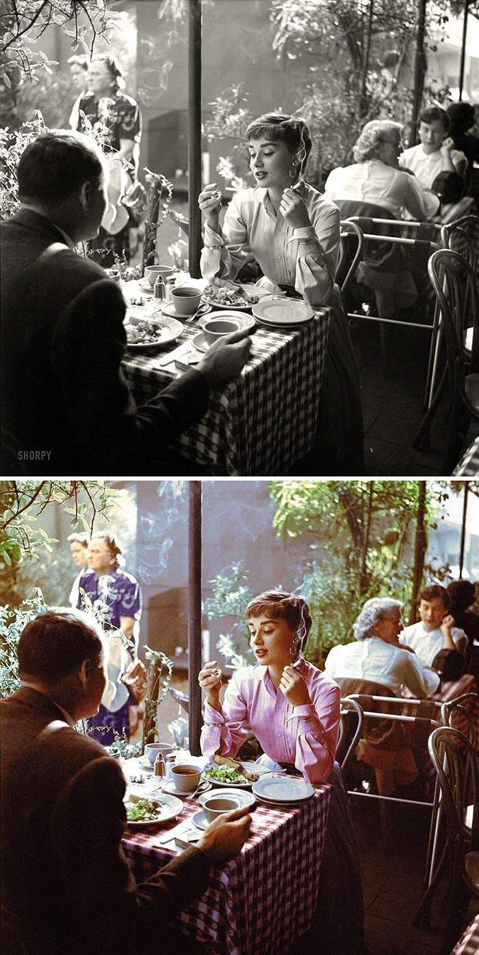Одри Хепберн, 1956 год.