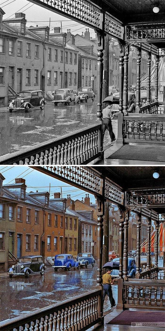 Дождливый день в Питтсбурге, Джон Вашон, июнь 1941