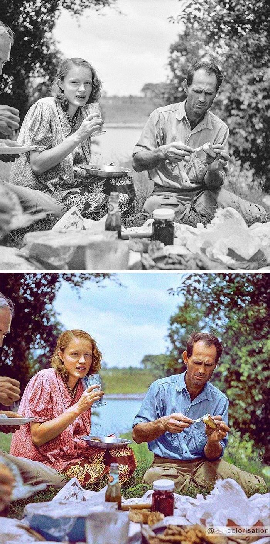Семейный пикник, штат Луизиана, Мэрион Пост Уолкотт, 4 июля 1940