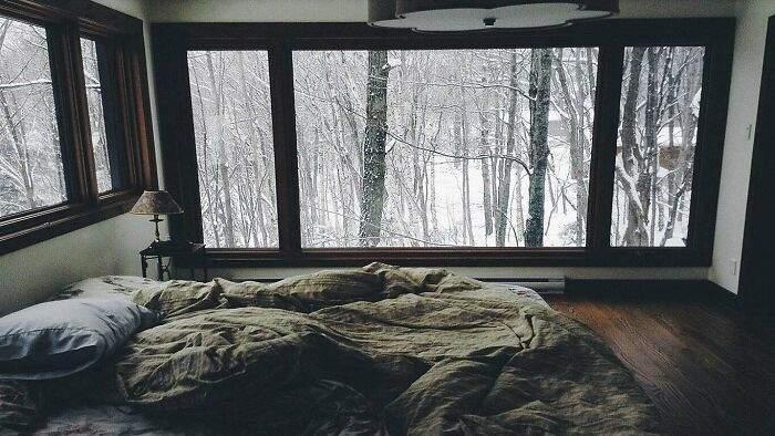 Волшебный интерьер дома в лесу