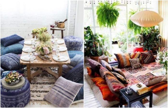 Подушки на підлозі допоможуть експериментувати зі стилем