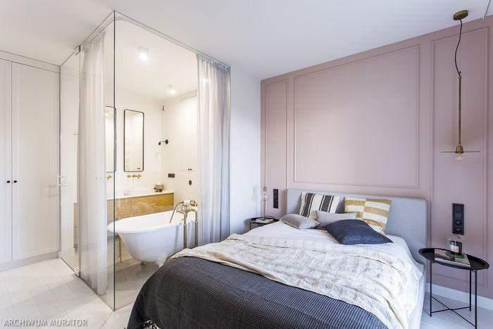 Стена в спальне с цветовым акцентом