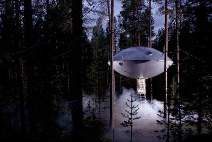 Вы будете удивлены, увидев в лесу такой домик