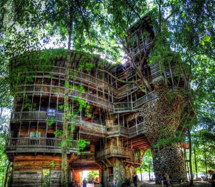 Трудно представить, что это домик на дереве