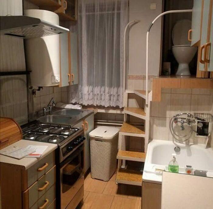 аріант розміщення санвузла у маленькій квартирі