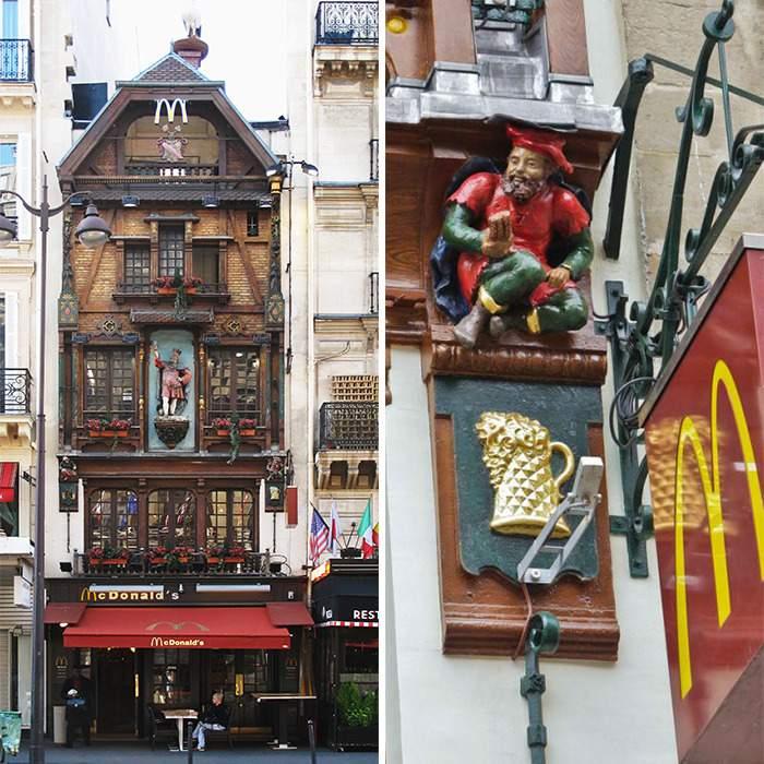 Фасад прикрашає знаменита фігурка короля пива / Фото boredpanda