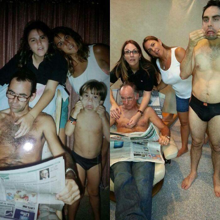 Люди повторюють свої фото через багато років