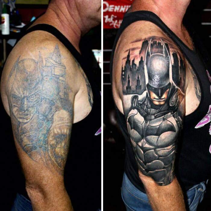 Мастер переделал плохую татуировку