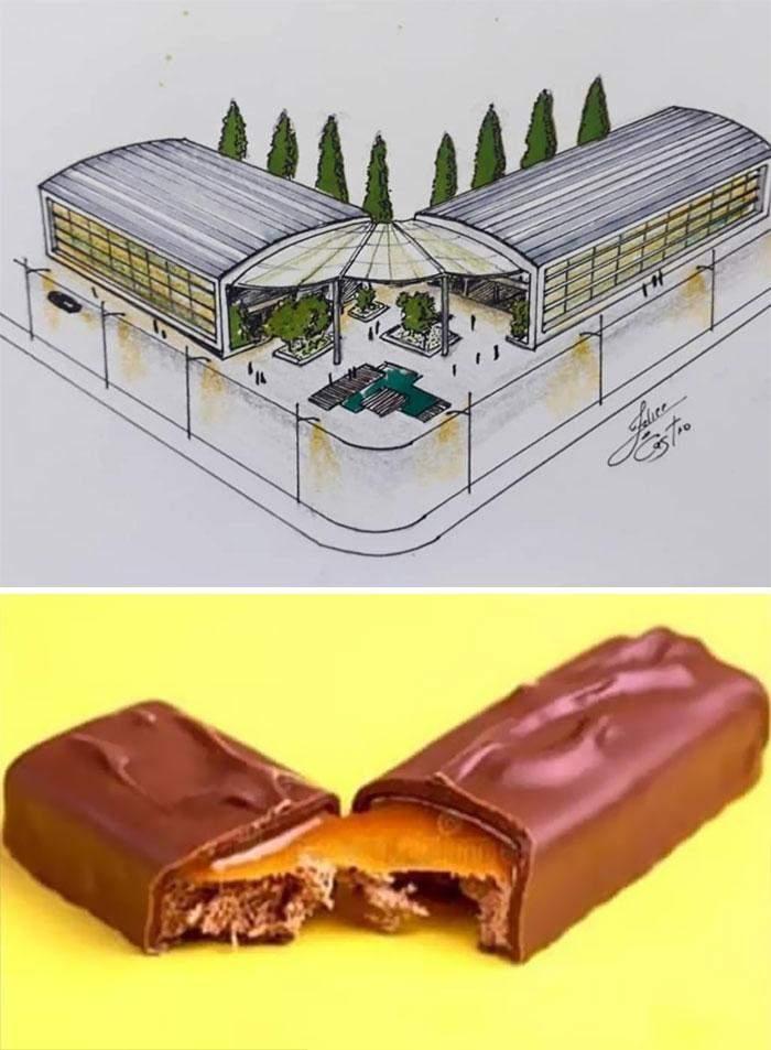 Розламана шоколадка надихнула на таку будівлю
