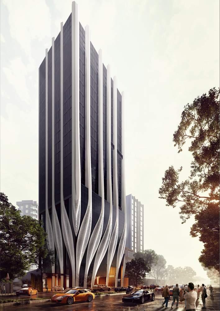 Легкість будівлі стврорена за допомогою підтримуючих панелей / Фото Archdaily