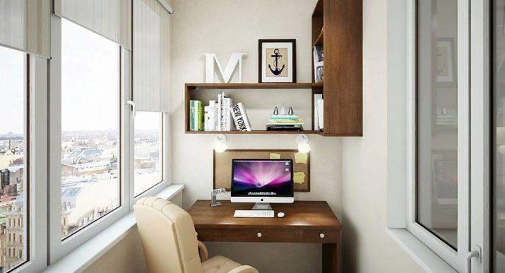 Рабочее место можно разместить у окна или на лоджии