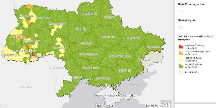 карантинні зони України карта