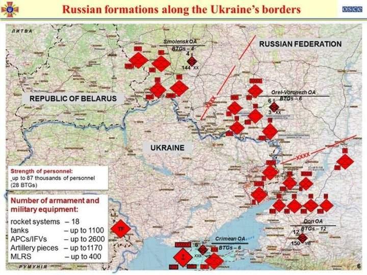 наступ Росії на Україну