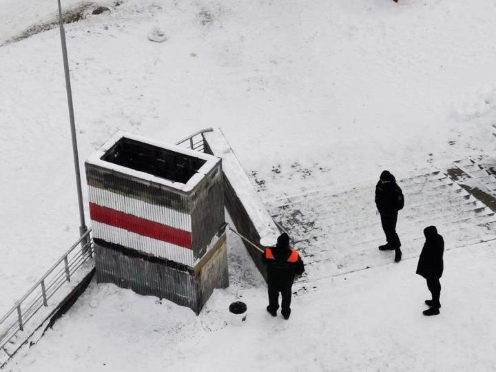 Білорусь, протести,  Мінськ, Грушовка, протестна символіка, 31 січня 2021