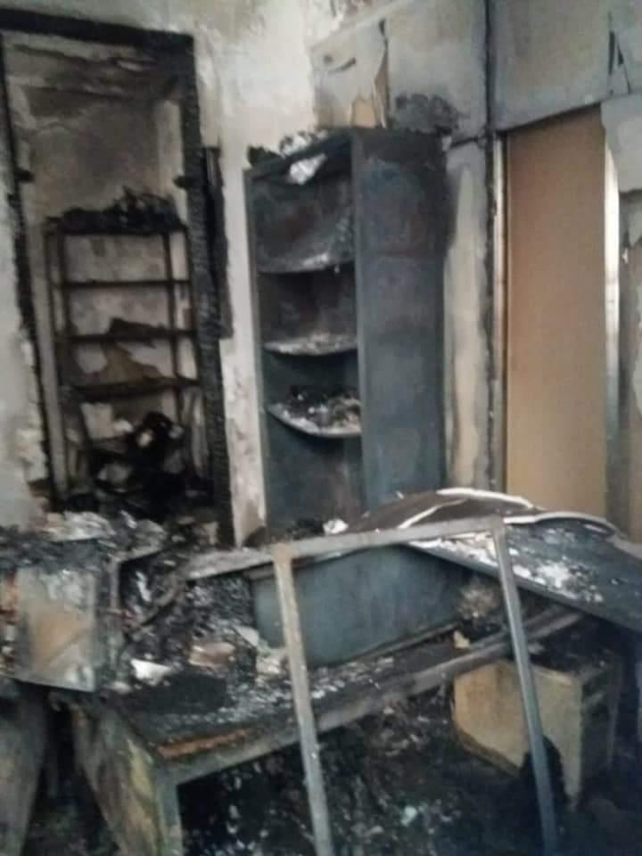 Пожежа у центрі МВС у Зубиному Потоці