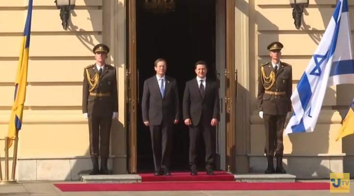 Зустріч Володимира Зеленського та Іцхака Герцоґа, президенти України та Ізраїлю зустрілися в Києві