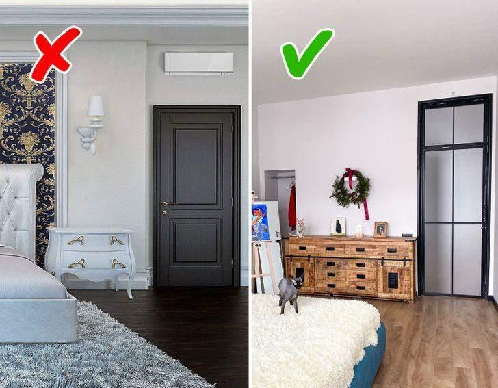 Двери до потолка визуально расширяют пространство