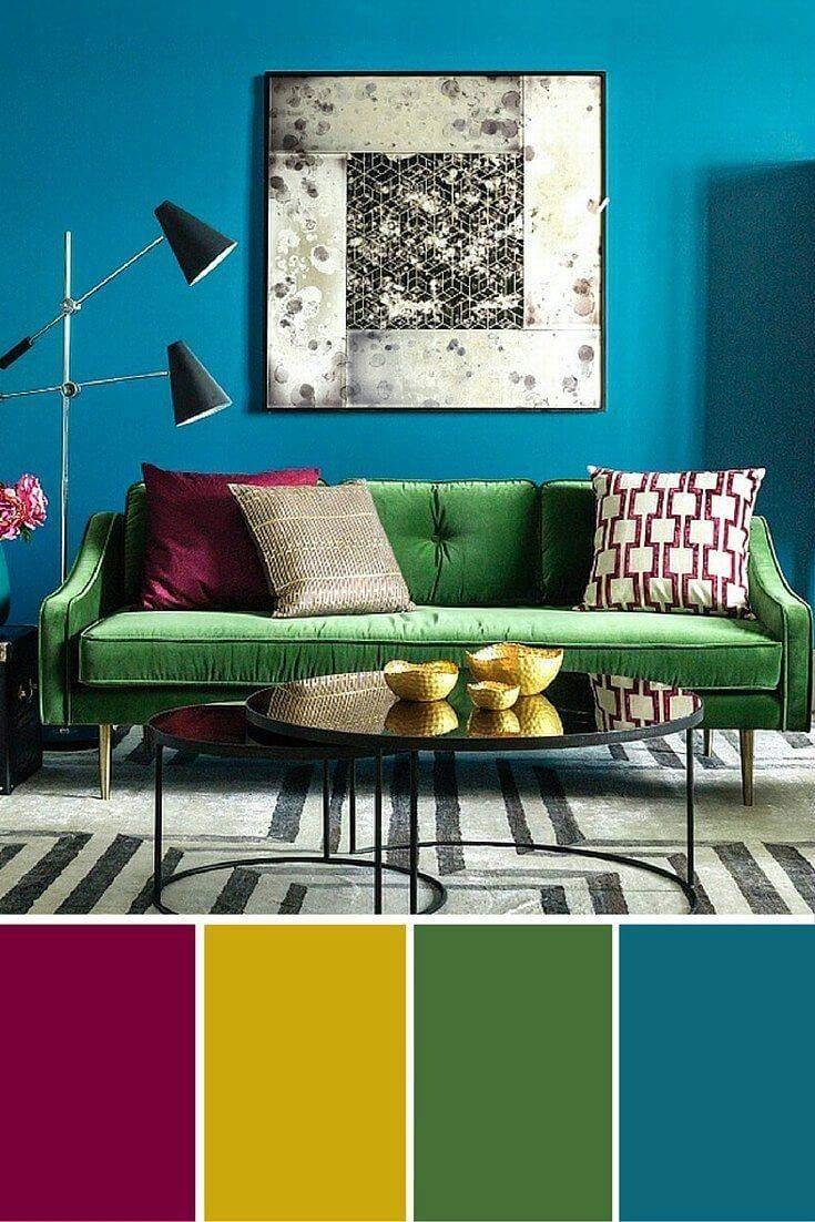 Як підібрати палітру кольорів для вітальні
