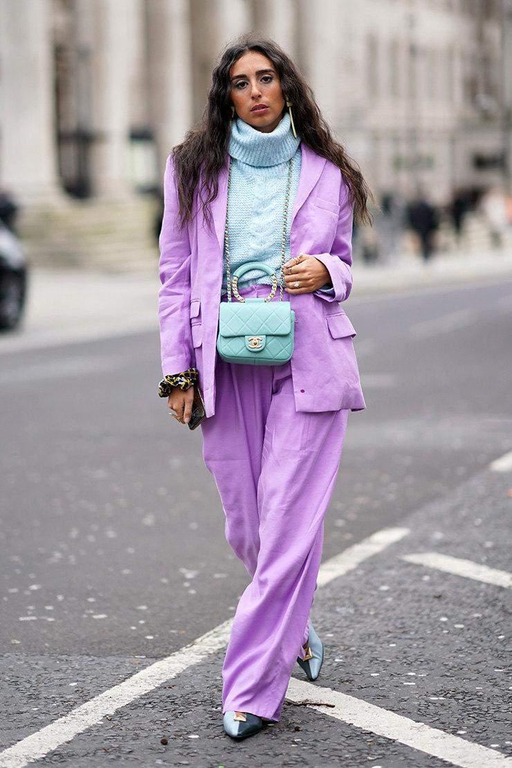 Стильні варіанти з лавандовим вбранням