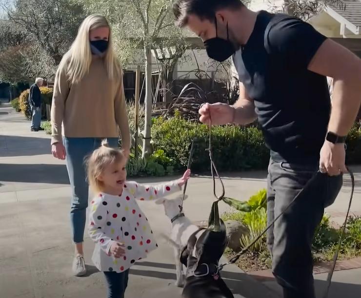 Так Лили впервые гуляла с Мозом