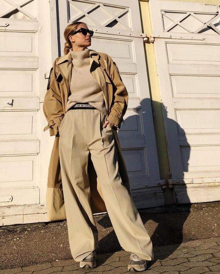 Приклади стилізування широких штанів
