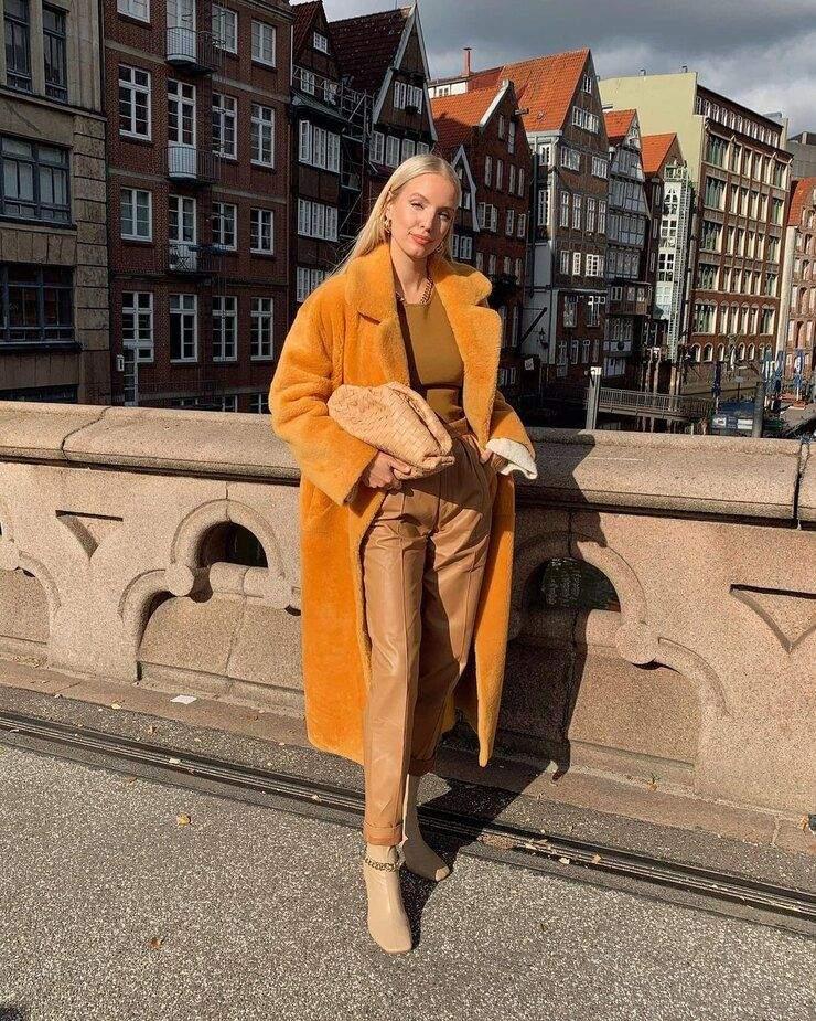 Приклади носіння відтінків землі цієї зими / Harper's Bazaar