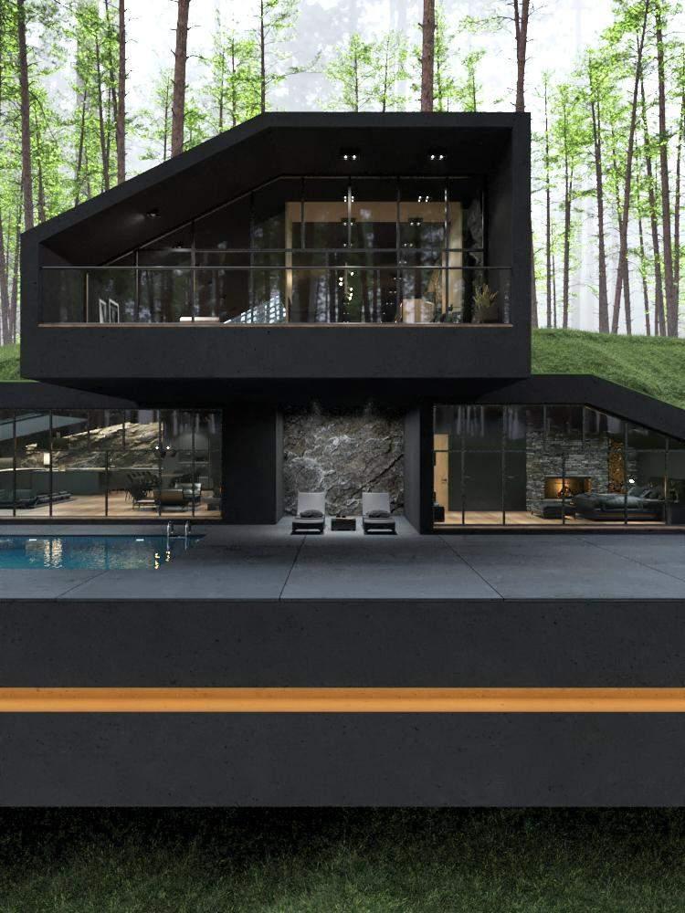 Віллу переповнюють найсміливіші архітектурні конструкції / Фото Amazing Architecture