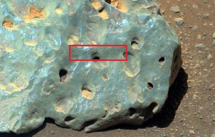 Зелений камінь на Марсі