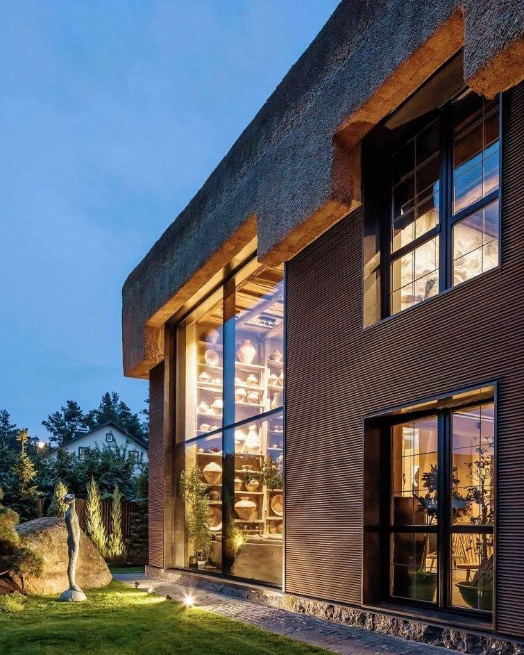 Дом Шкруба построен в стиле хаты-мазанки