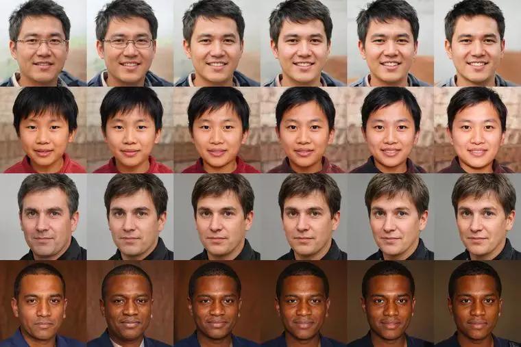 Штучні портрети, які брали участь в аналізі