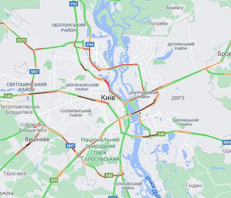 онлайн карта заторів 31 травня