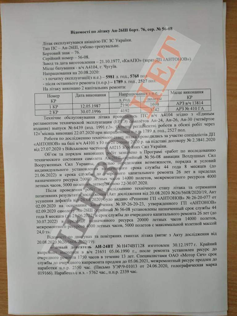 катастрофа АН-26 біля Чугуєва