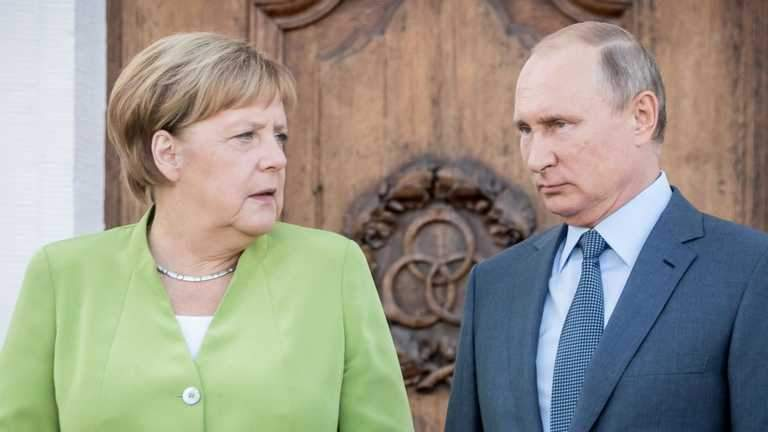 путін та меркель