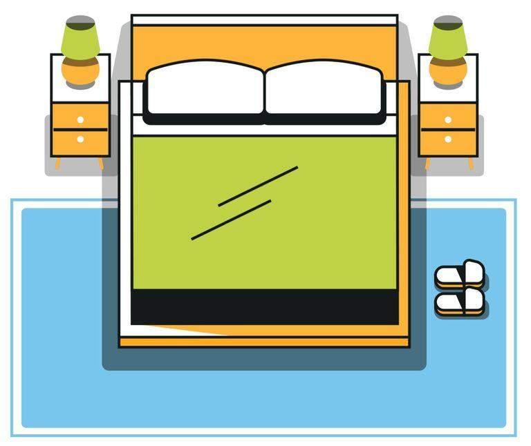 Як розташувати килим у спальні