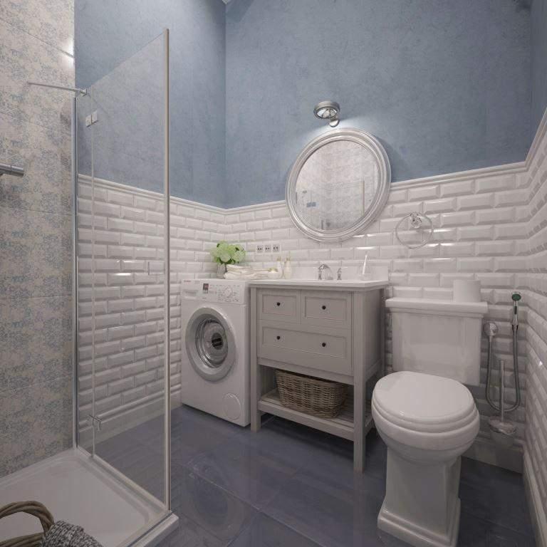 Ванная комната голубого цвета