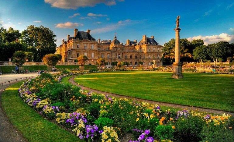 люксембурзький сад та палац Париж