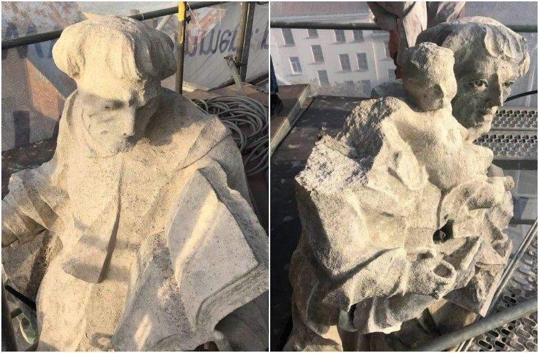 Скульптури на шпилях потребують особливої уваги / Фото ЛМР