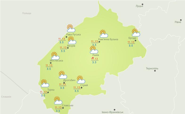 Прогноз погоди на Львівщині на 17 і 18 квітня: в області оголосили штормове попередження