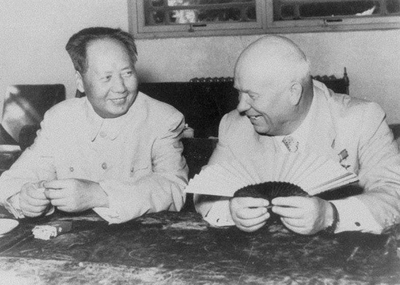 Мао Цзедун та Микита Хрущов
