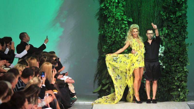 Пэрис Хилтон и Андре Тан на Ukrainian Fashion Week в 2011 году