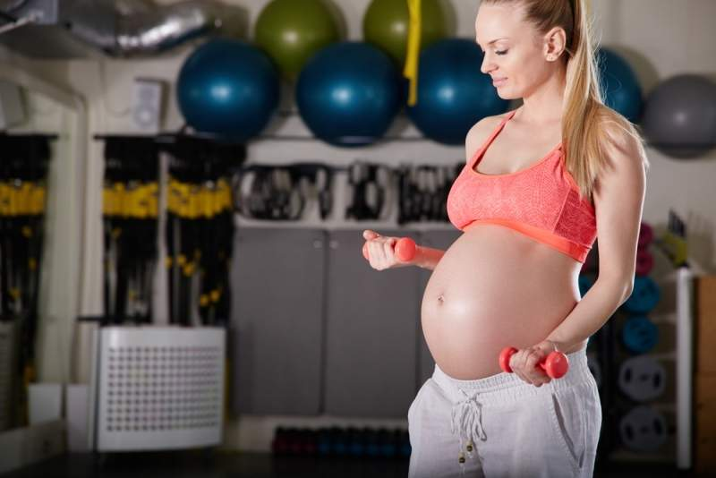 Во время беременности тренировки не забронени