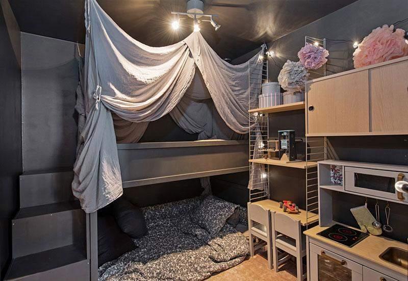 Детская комната на втором уровне