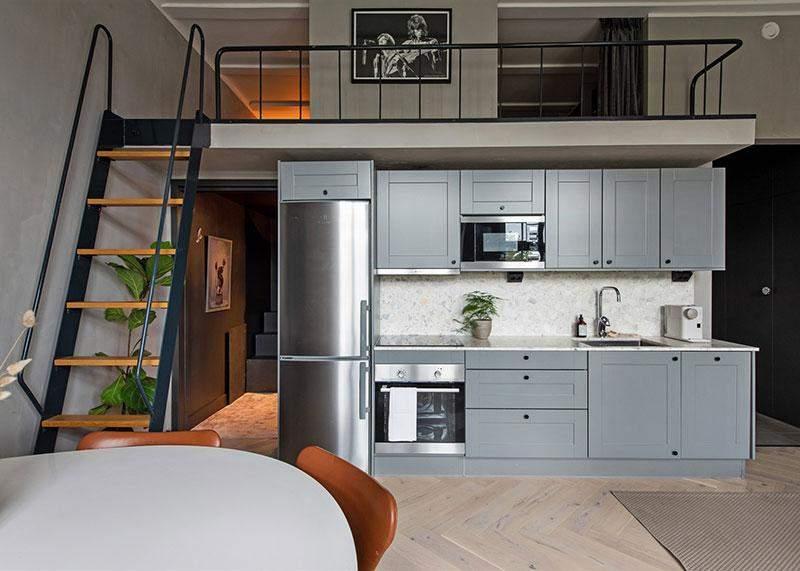 В квартире удалось сделать небольшой второй этаж