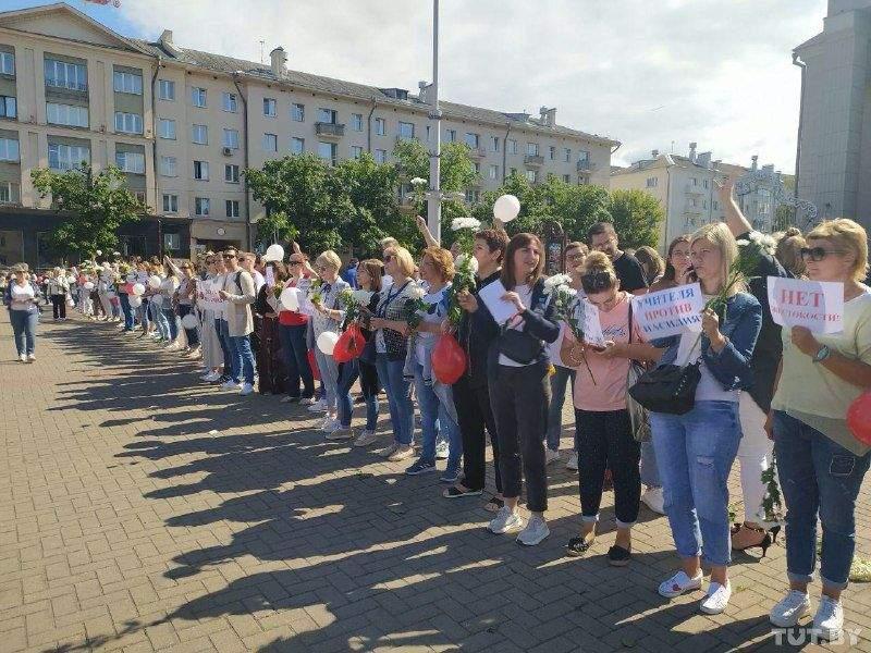 Фото з протестів вчителів