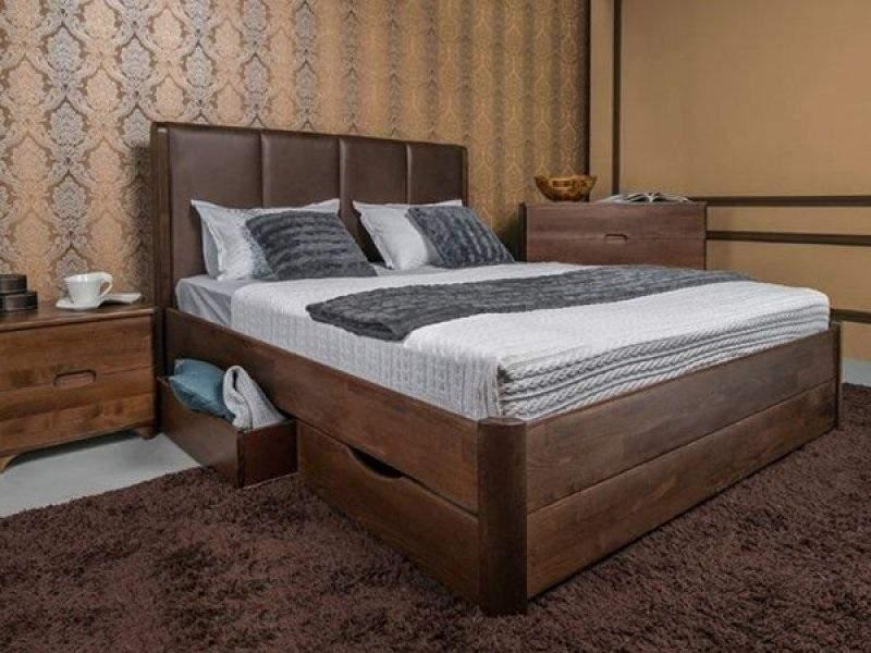 Ліжко з нішами для зберігання