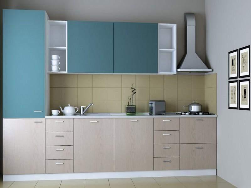 Современная двухцветная кухня