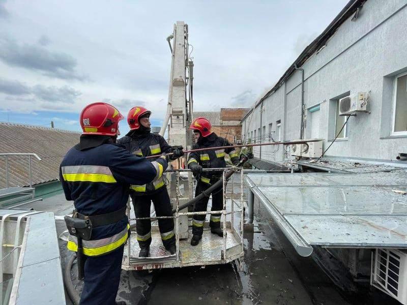 Пожежа в офісному центрі Вінниці